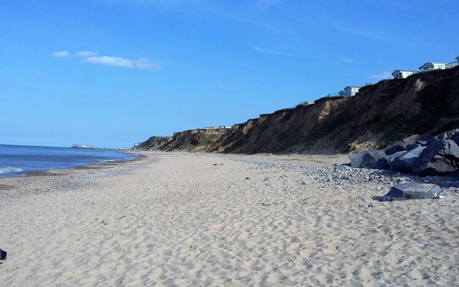 East Runton beach adjacent to Seaview Caravan Park